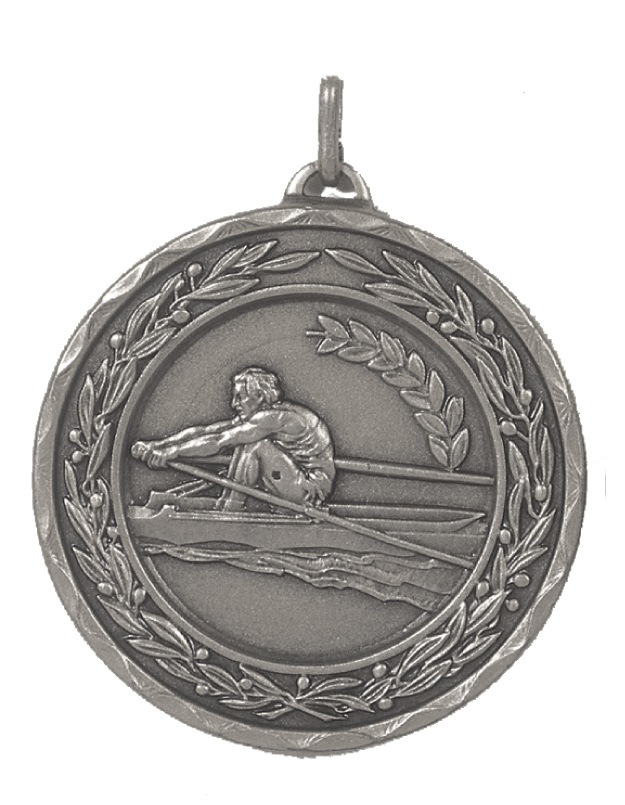 Silver Laurel Economy Rowing Medal (size: 50mm) - 4295RE