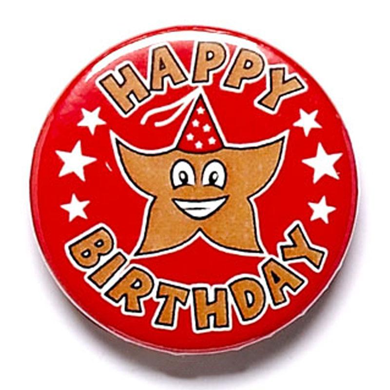 Happy Birthday School Button Badge - BA012