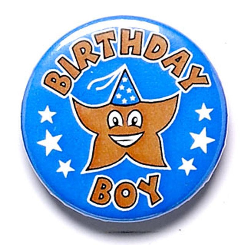 birthday boy school button badge ba013 impact trophies