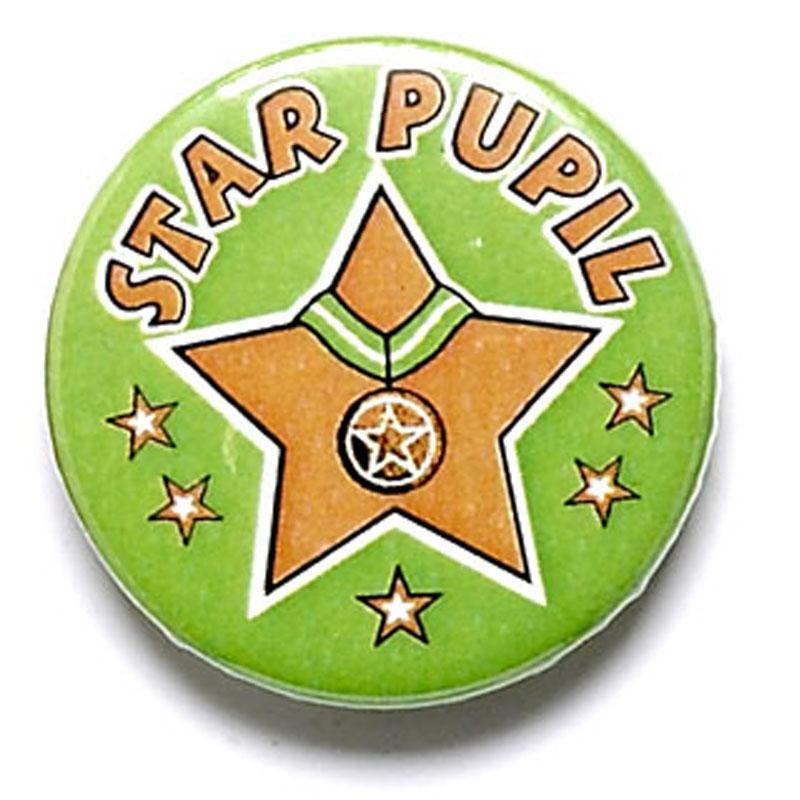 Star Pupil School Button Badge - BA018