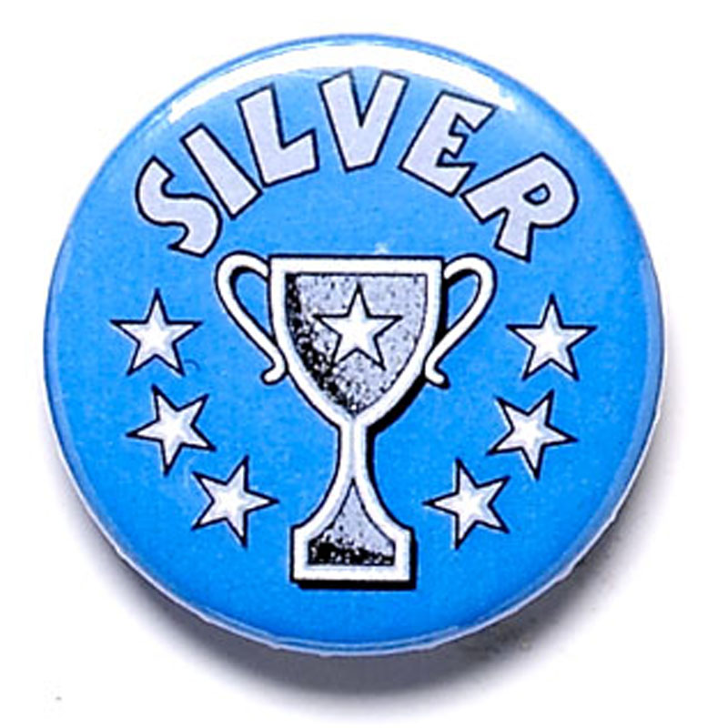 Silver Cup School Button Badge - BA006