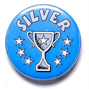 Silver Cup School Button Badge - BA006