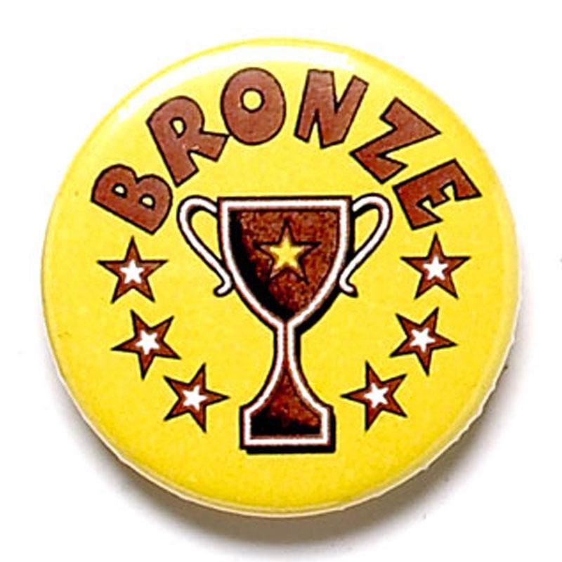 Bronze Cup School Button Badge - BA007