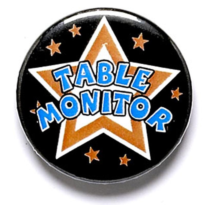 Table Monitor School Button Badge - BA026