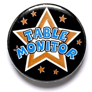 Table Monitor School Button Badge - BA026