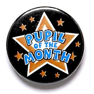 Pupil of the Month School Button Badge - BA027
