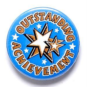 Outstanding Achievement School Button Badge - BA039