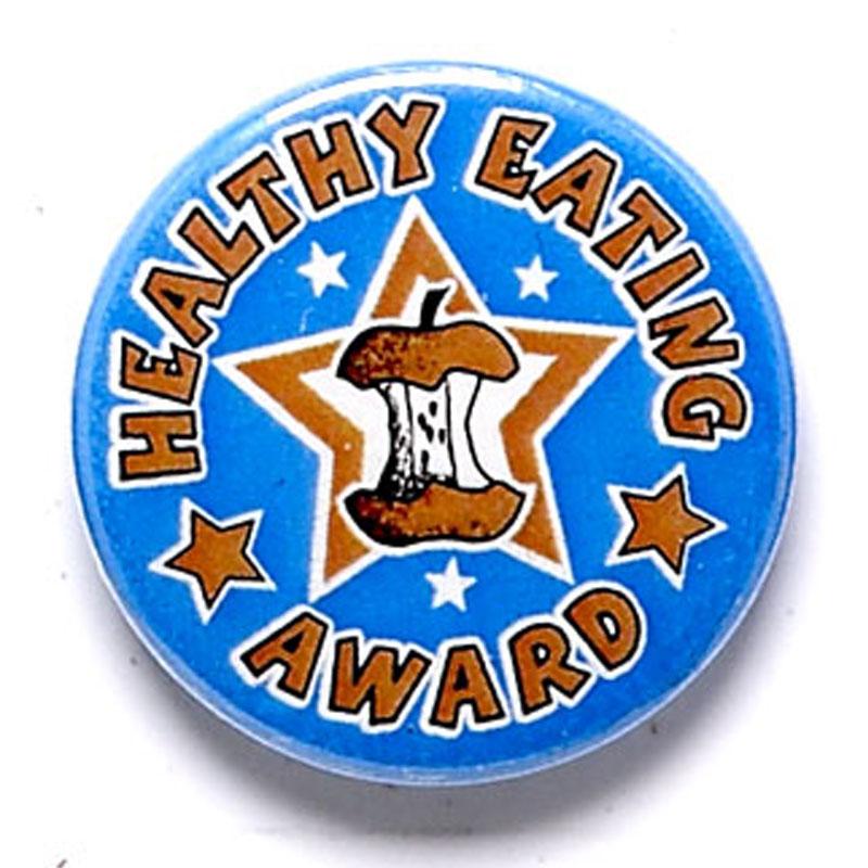 Healthy Eating Award School Button Badge - BA041