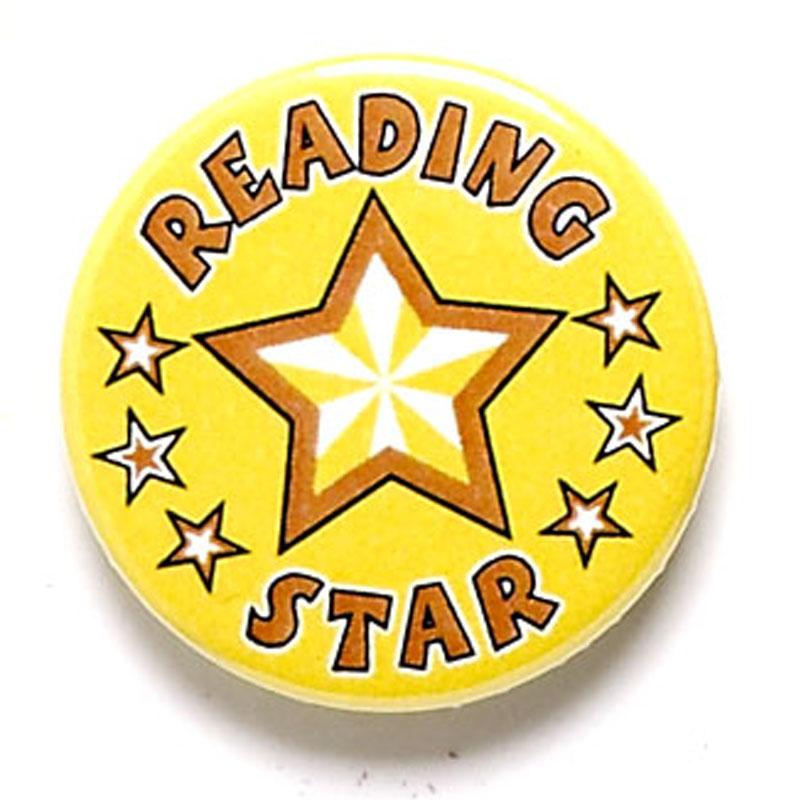 Reading Star School Button Badge - BA043