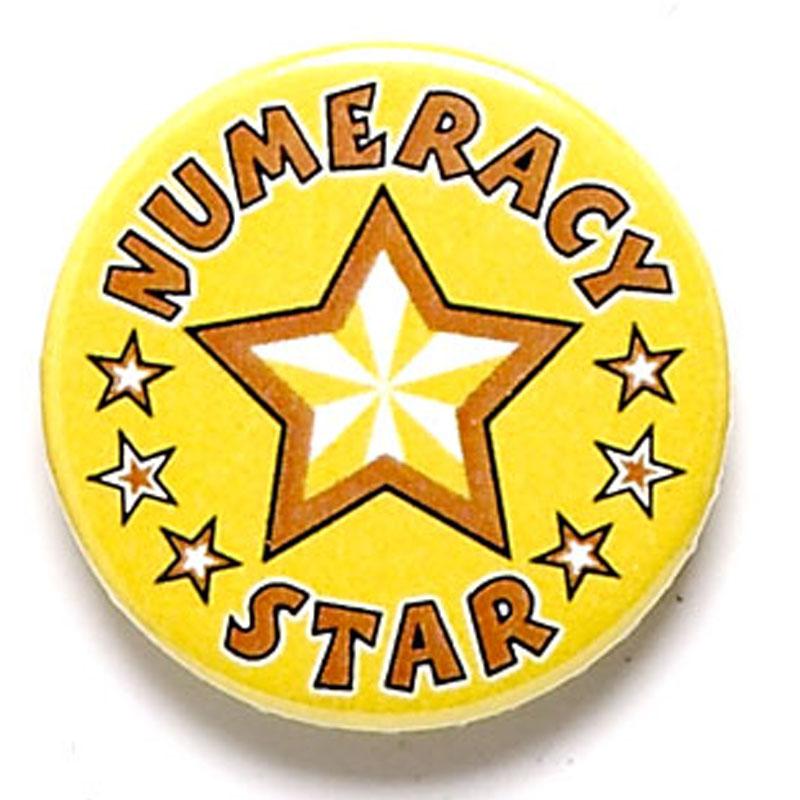 Numeracy Star School Button Badge - BA044