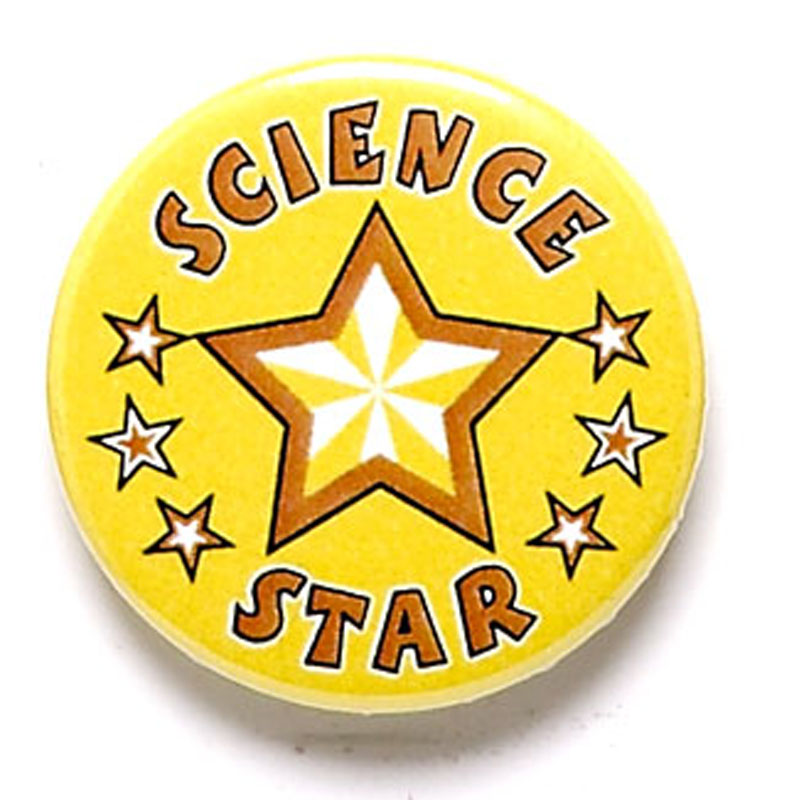 Science Star School Button Badge - BA046