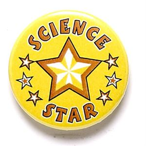Science Star School Button Badge