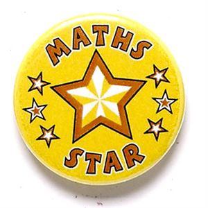 Maths Star School Button Badge