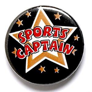 Sports Captain School Button Badge - BA022