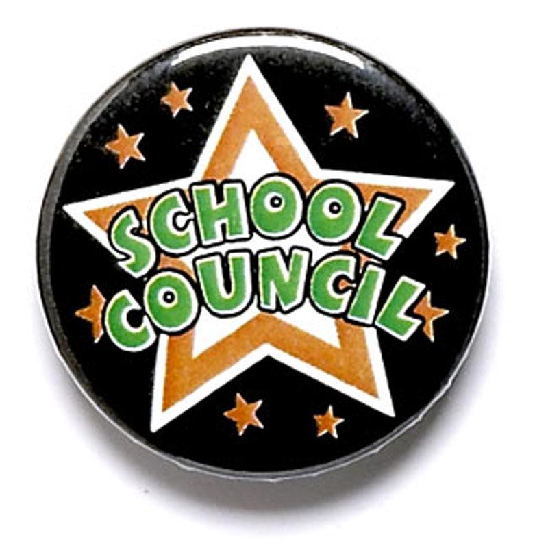 School Council School Button Badge - BA023