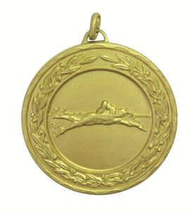 Gold Laurel Economy Male Swimming Medal (size: 50mm) - 4230E