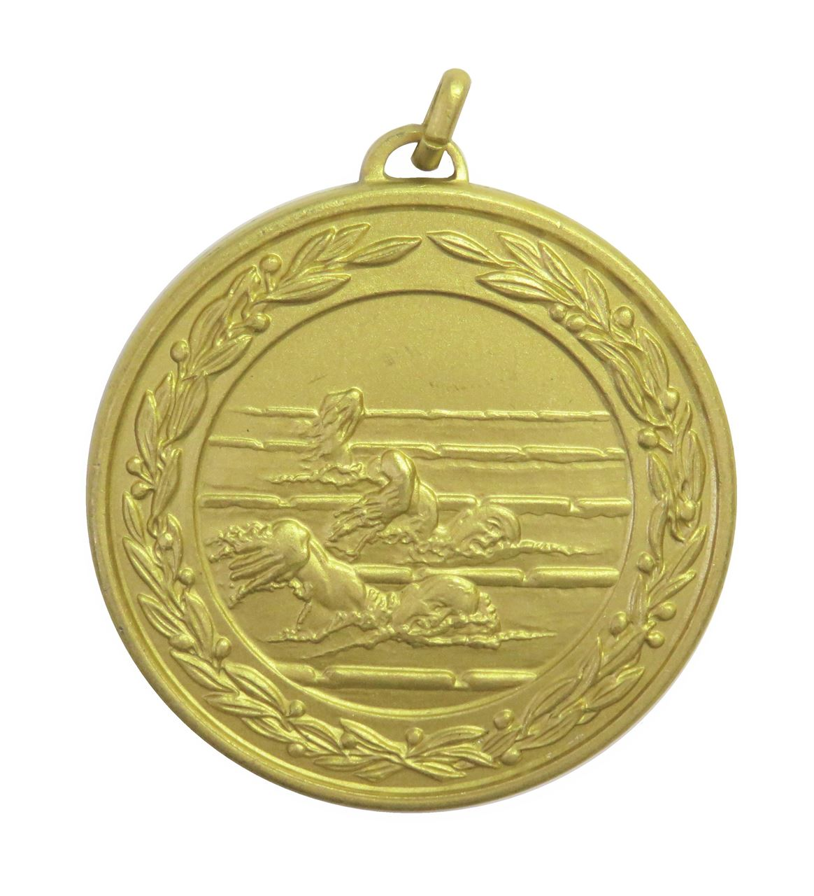 Gold Laurel Economy Male Swimmers Medal (size: 50mm) - 9694E
