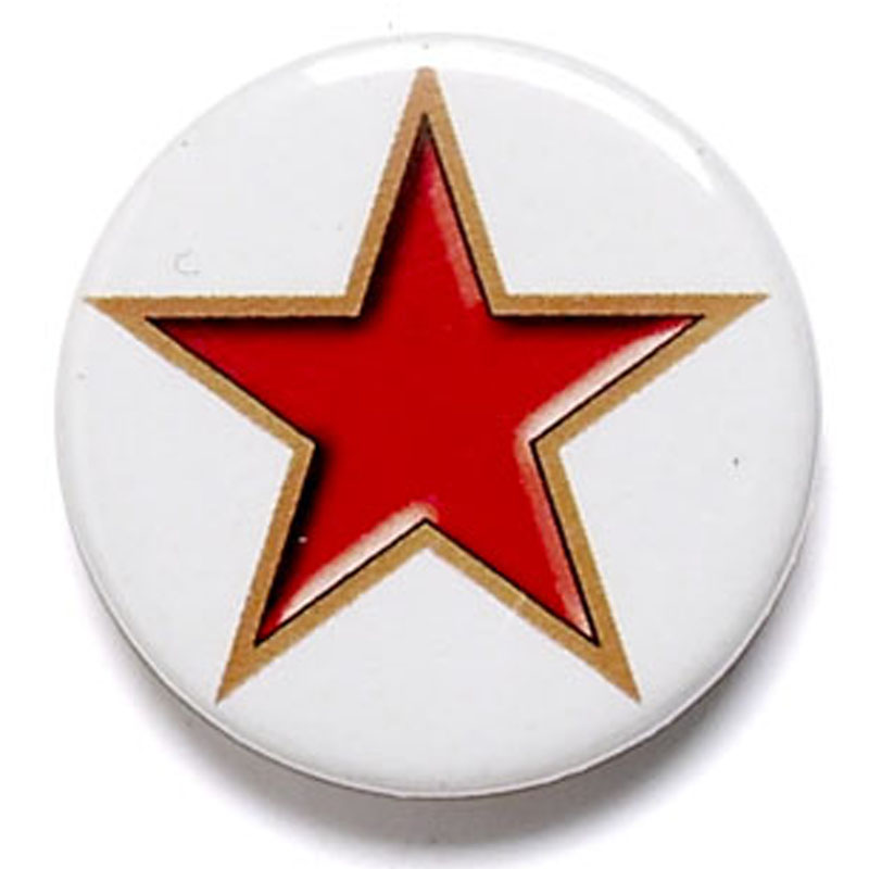 Red Star School Button Badge - BA001