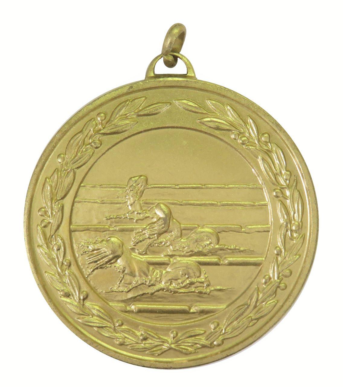 Gold Laurel Economy Female Swimmers Medal (size: 50mm) - 9703E