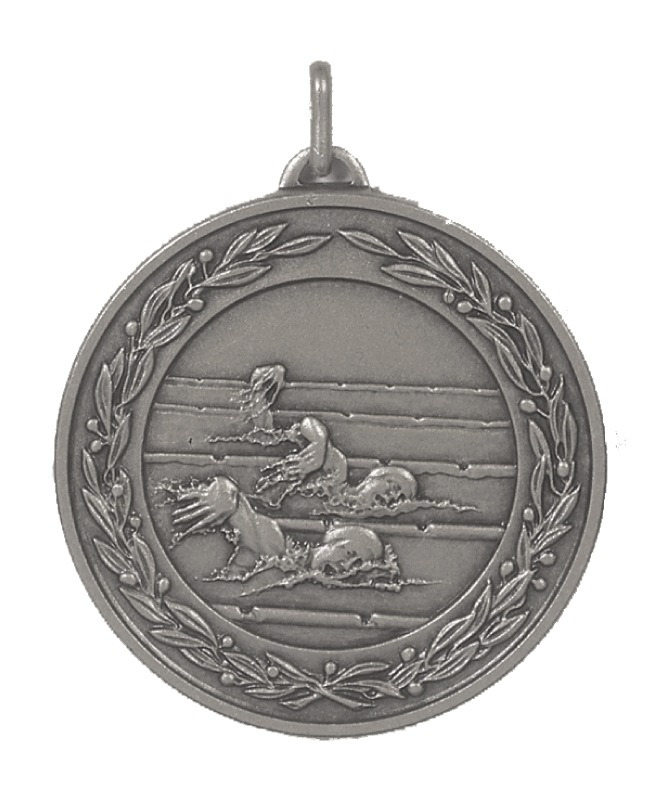 Silver Laurel Economy Female Swimmers Medal (size: 50mm) - 9703E