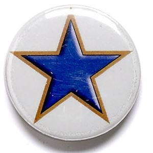 Blue Star School Button Badge - BA002