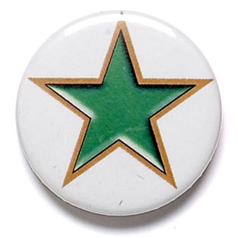 Green Star School Button Badge - BA004