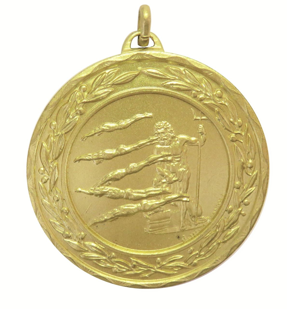 Gold Laurel Economy Poseidon Swimming Medal (size: 50mm) - 4231E