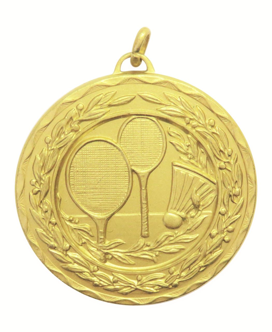 Gold Laurel Economy Badminton Medal (size: 50mm) - 4181E