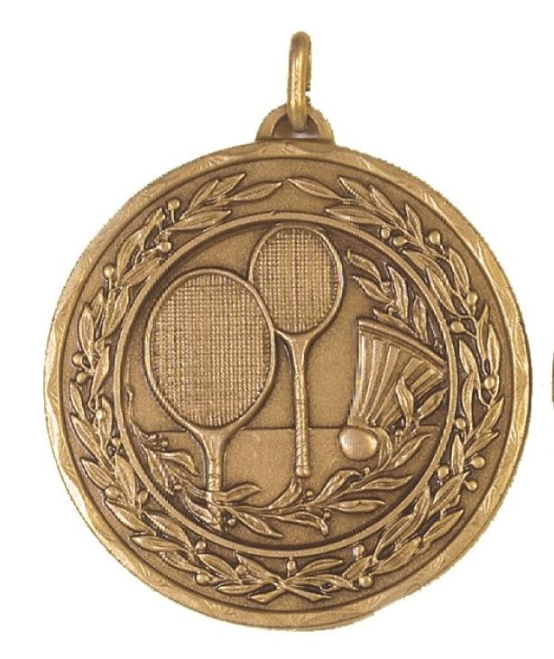 Bronze Laurel Economy Badminton Medal (size: 50mm) - 4181E