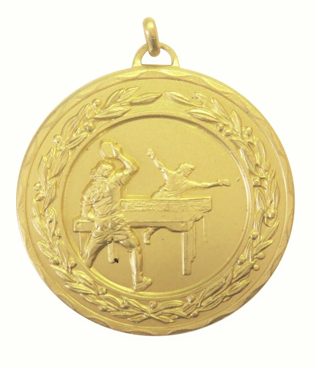Gold Laurel Economy Table Tennis Medal (size: 50mm) - 4140E