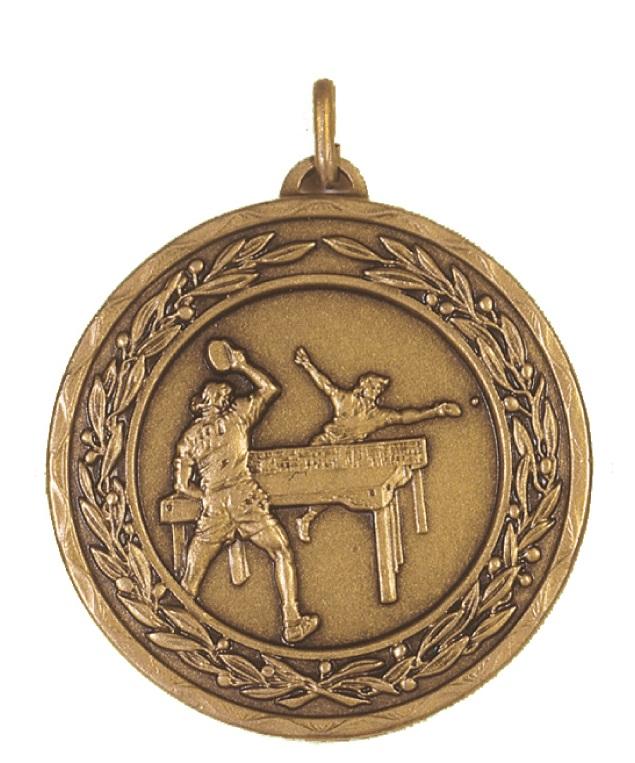 Bronze Laurel Economy Table Tennis Medal (size: 50mm) - 4140E
