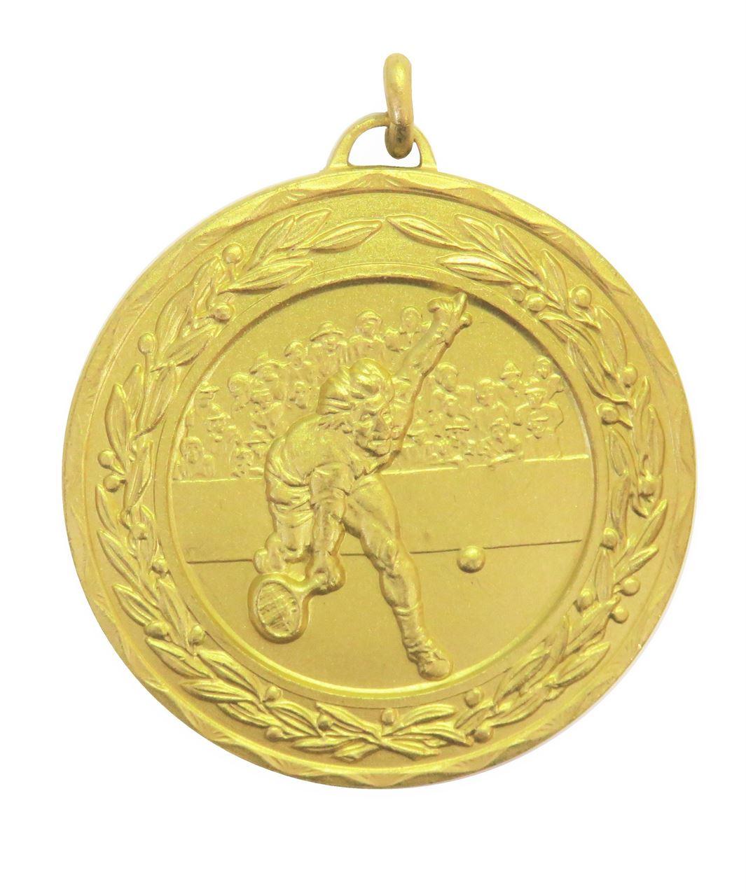 Gold Laurel Economy Men's Tennis Medal (size: 50mm) - 4180E