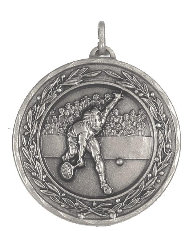 Silver Laurel Economy Men's Tennis Medal (size: 50mm) - 4180E