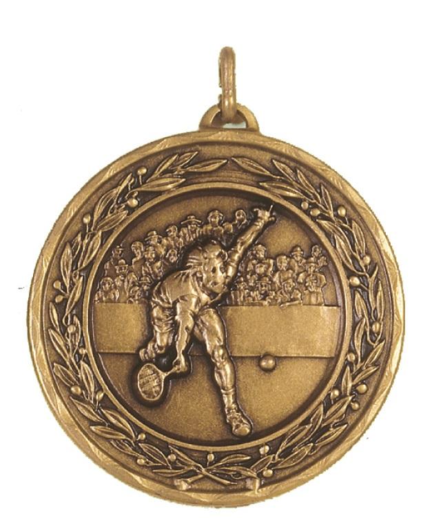 Bronze Laurel Economy Men's Tennis Medal (size: 50mm) - 4180E