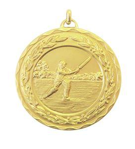 Gold Laurel Economy Cricket Medal (size: 50mm) - 4100E