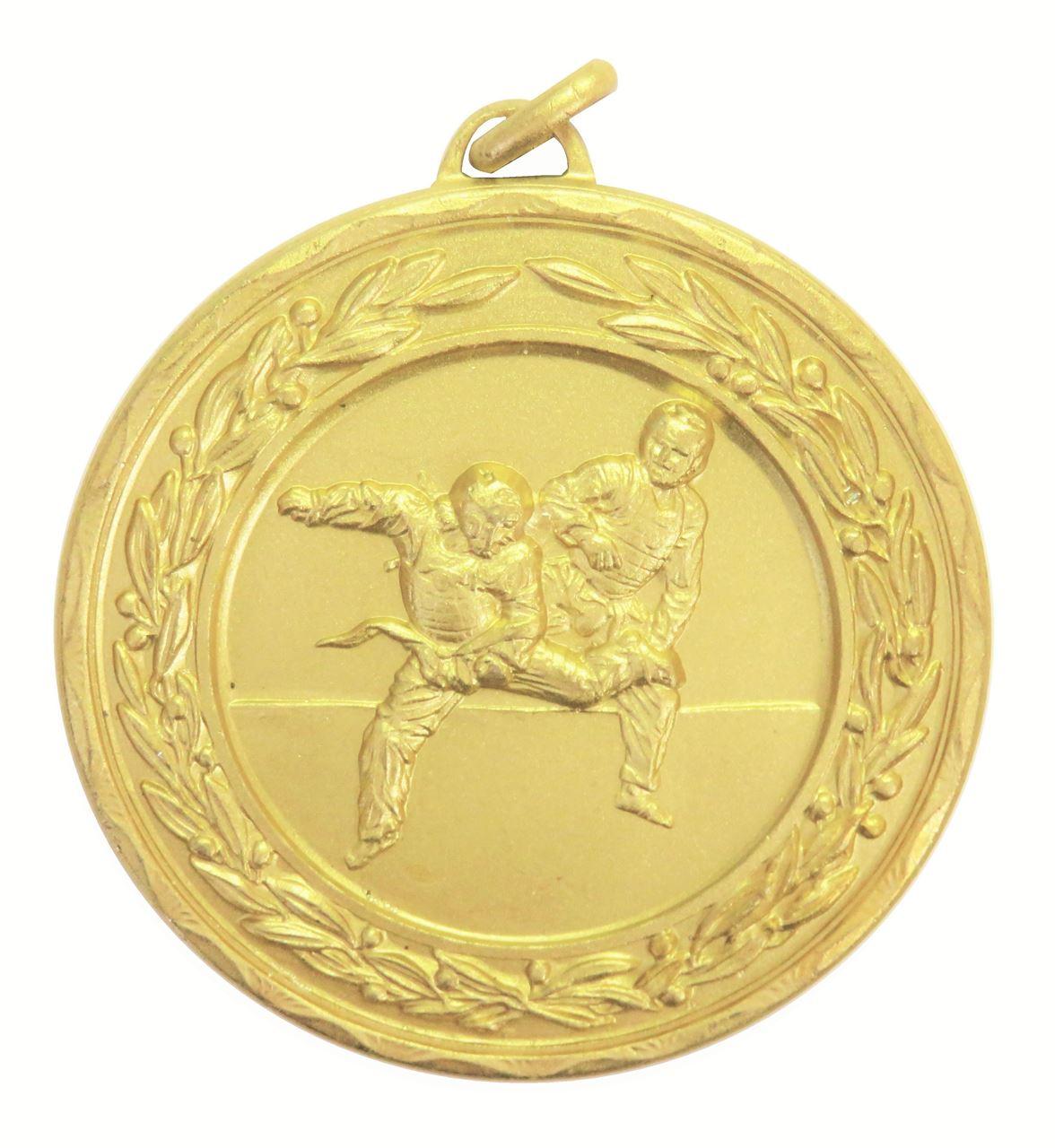 Gold Laurel Economy Martial Arts Medal (size: 50mm) - 4205E