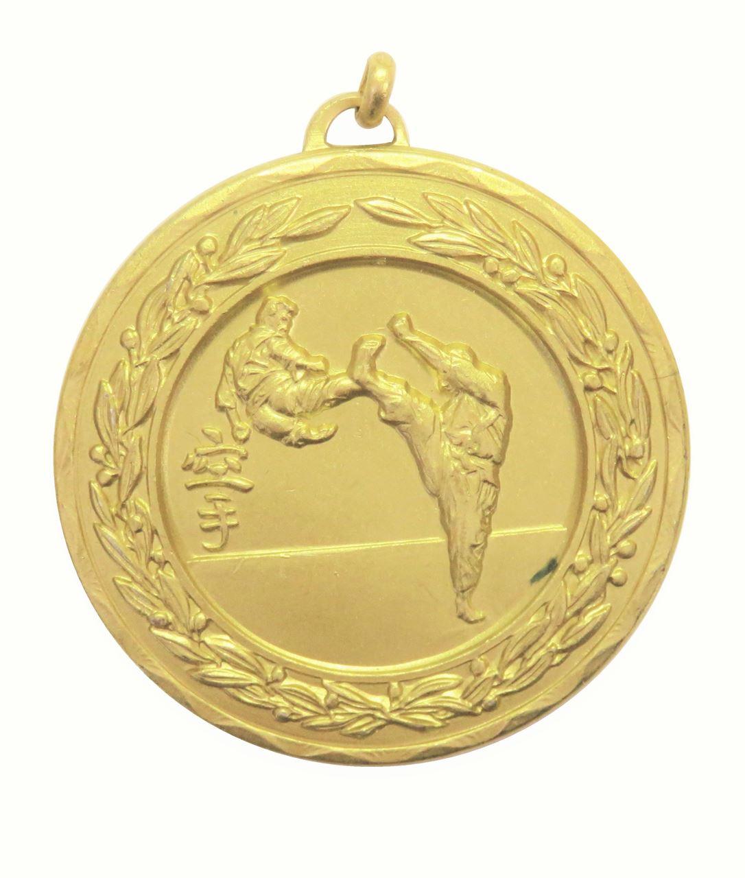 Gold Laurel Economy Karate Medal (size: 50mm) - 4200E