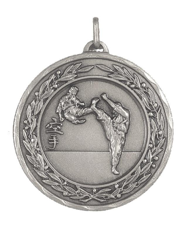 Silver Laurel Economy Karate Medal (size: 50mm) - 4200E