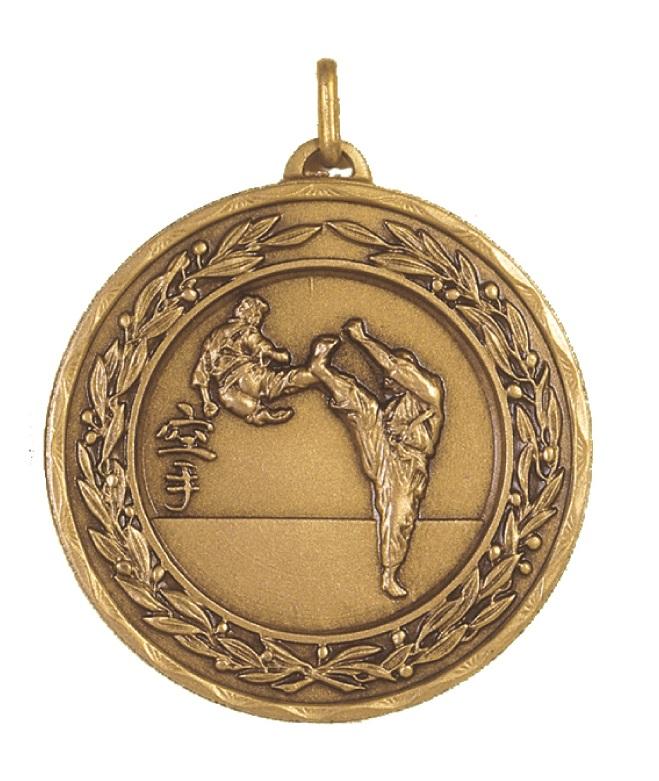 Bronze Laurel Economy Karate Medal (size: 50mm) - 4200E
