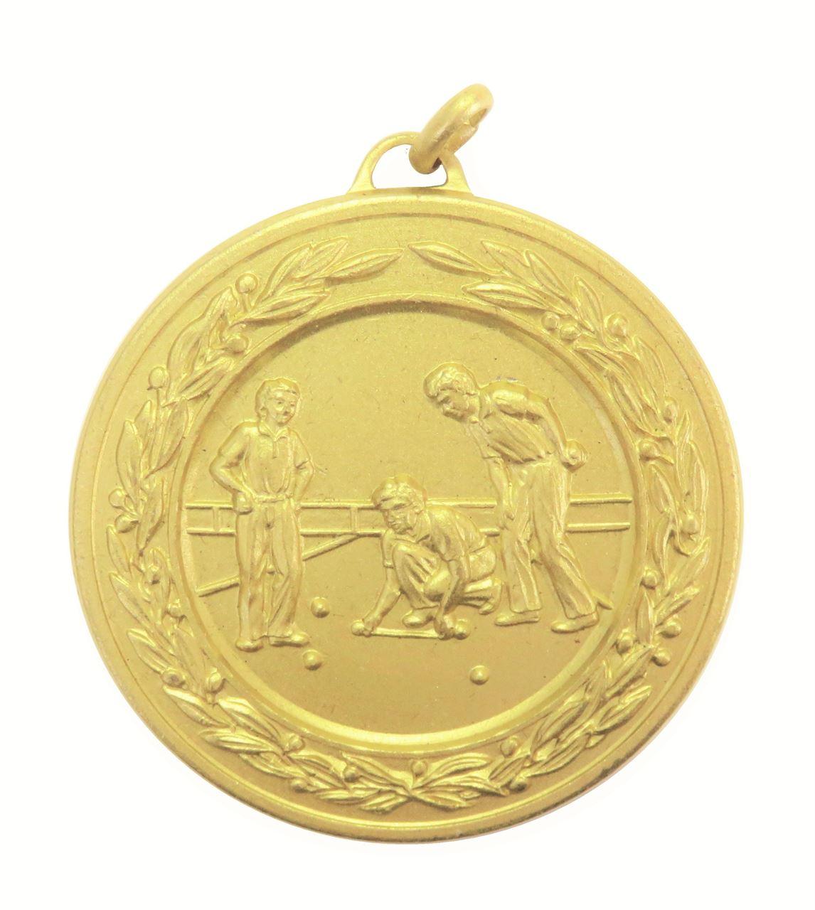 Gold Laurel Economy Lawn Bowls Medal (size: 50mm) - 4265E