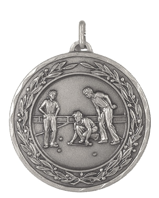 Silver Laurel Economy Lawn Bowls Medal (size: 50mm) - 4265E
