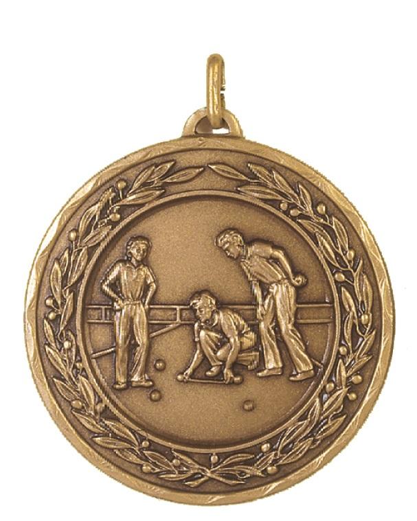 Bronze Laurel Economy Lawn Bowls Medal (size: 50mm) - 4265E