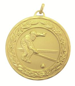 Gold Laurel Economy Bowls Medal (size: 50mm) - 4045E