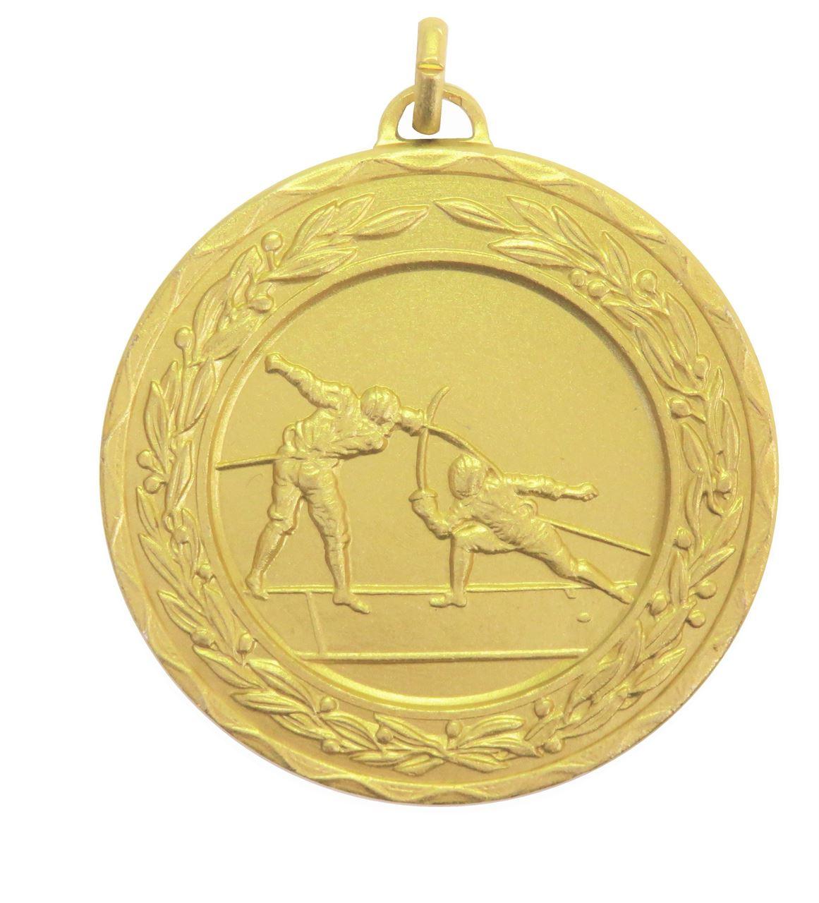 Gold Laurel Economy Fencing Medal (size: 50mm) - 4310E