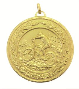 Gold Laurel Economy Mountain Bike Medal (size: 50mm) - 4255E