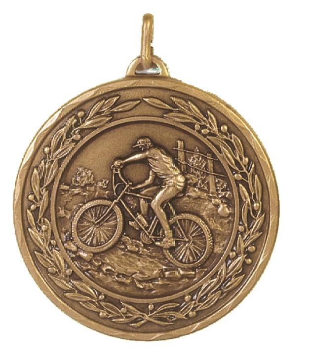 Bronze Laurel Economy Mountain Bike Medal (size: 50mm) - 4255E