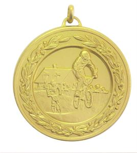 Gold Laurel Economy BMX Medal (size: 50mm) - 4260E