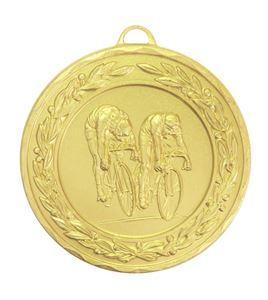 Gold Laurel Economy Cycling Medal (size: 50mm) - 4235E