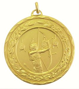 Gold Laurel Economy Archery Medal (size: 50mm) - 4191E