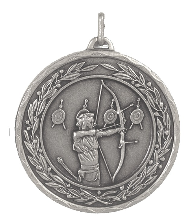 Silver Laurel Economy Archery Medal (size: 50mm) - 4191E